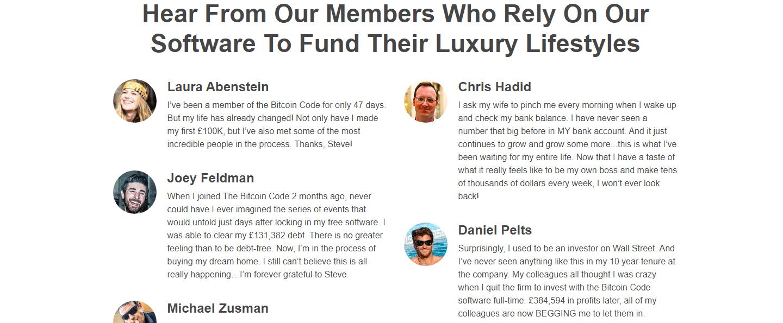 Bitcoin Code Reviews - Success Stories