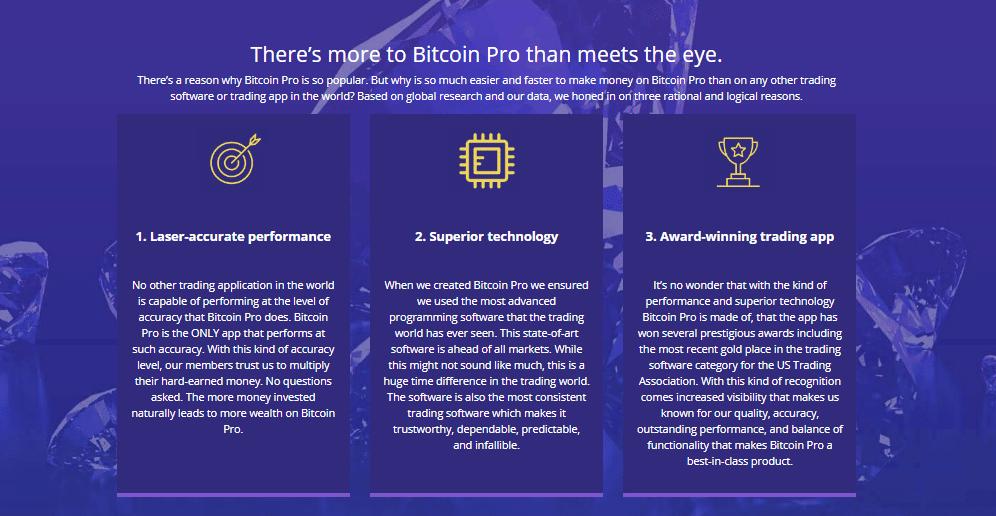 Bitcoin Pro Reviews - Advantages